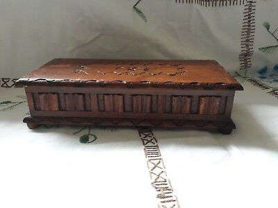 Vintage Wooden Tallent of old bond street Musical Jewellery Box  reuge movement