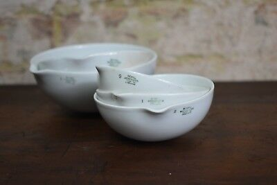 Antique 1920s Royal Worcester Chemist Dishes Laboratory Apothecary Bowl (A)