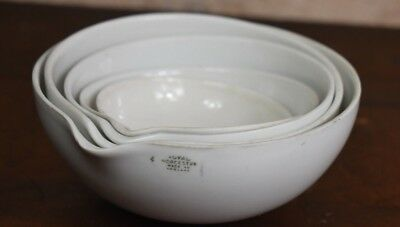 Antique 1920s Royal Worcester Chemist Dish Five Laboratory Apothecary Bowl (B)