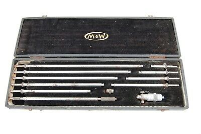 """Vintage Moore And Wright 2""""-12"""" Bore Micrometers"""