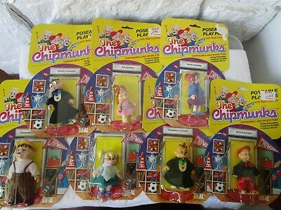 Vintage 1984 Lot of  7 The Chipmunks Play Pals Alvin Simon Ideal New in Package