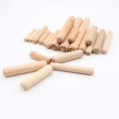 200pcs Grooved Fluted Wooden Wood Dowels Pins Woodworking Craft Cabinet Making L