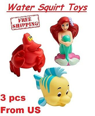 Baby Bath Squirt Toys Ariel Little Mermaid Cake Topper Birthday Play Water Fun 3