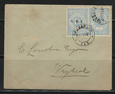 Transvaal V.R.I. 10.02.1901 Cover Gommamaan Z.A.R. Zegelregt Putzel Very Rare