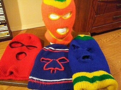 vintage huge lot of 4 FACE MASKS SKI COSTUME bank robber style snow sledding
