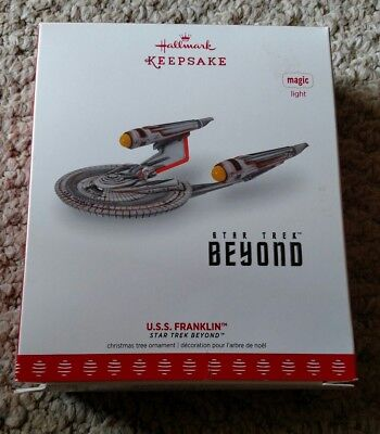 Hallmark Keepsake 2017 STAR TREK BEYOND U.S.S. Franklin Christmas Ornament With