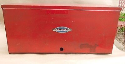 """Rare Craftsman 40's 50's Red Vintage 2 drawer Tool box  Chest Cover 23x10.5""""X10"""
