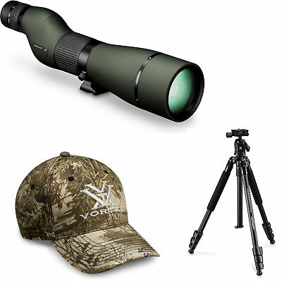 Vortex Viper HD 20-60x85 Spotting Scope (Straight) with HC-2 Tripod and Hat
