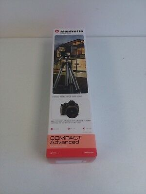 Manfrotto Compact Advanced Tripod With 3 Way Head Black MKCOMPACTADV-BK #1