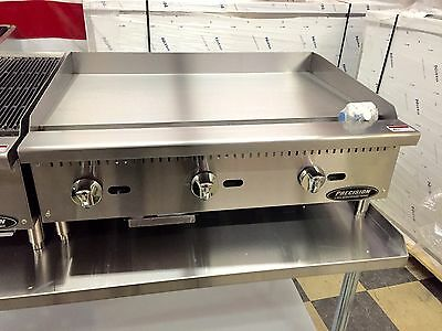"36"" FLAT GRIDDLE GRILL New COMMERCIAL RESTAURANT HEAVY DUTY NAT OR LP GAS"