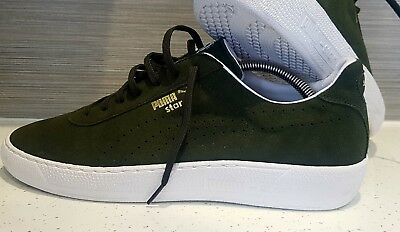 34442242f23 mens puma star trainers UK size 10 brand new G Vilas 80 s casuals dk green  suede