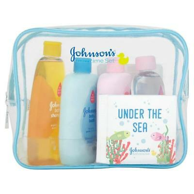 JOHNSON's Baby Bathtime Gift Set Shampoo Baby Bath No Tears Perfect For Xmas New