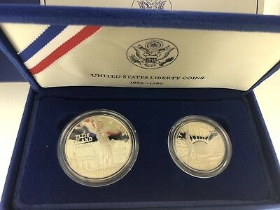 1886-1986 United States Silver Liberty Dollar & Half Dollar Proof Set
