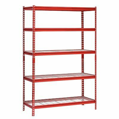 "Muscle Rack 5-Shelf Steel Shelving Unit 48"" Width x 72"" Height 24"" Length No Tax"