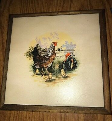Ceramic Rooster Picture Frame 1199 Picclick