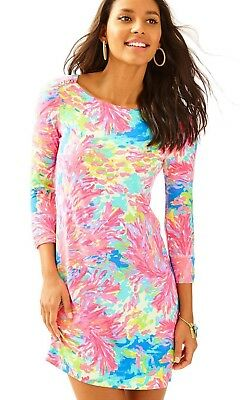 b0331a8bab8eda LILLY PULITZER UPF 50+ Sophie Dress Multi Palm Beach Coral Size XS ...