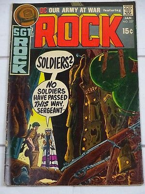 Our Army at War #227 Sgt Rock, Joe Kubert Bagged and Boarded - C3418