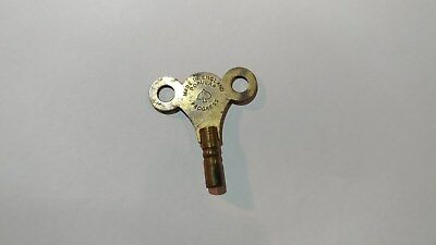 vintage Popular Progress wind-up Clock Key Size No. 10 Brass - Made In England