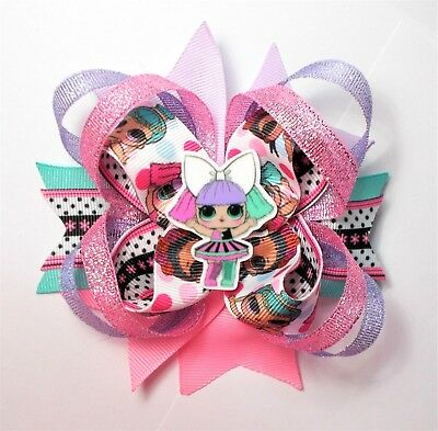 Lol Surprise Cartoon Stacked Boutique Hair Bow-Girls Hair Accessories- Handmade