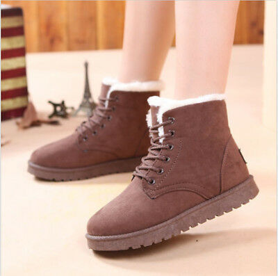 Faux Suede Fur Women Girls Snow Bootie Shoes Fashion Students Ankle Boots