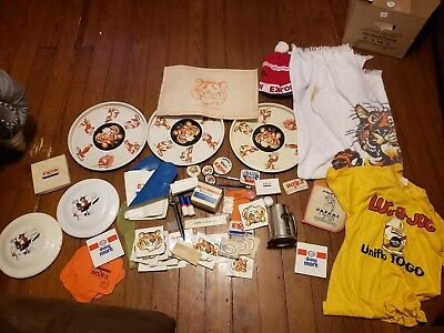 Exxon Esso Tony the Tiger lot shirt tray stickers ect huge lot
