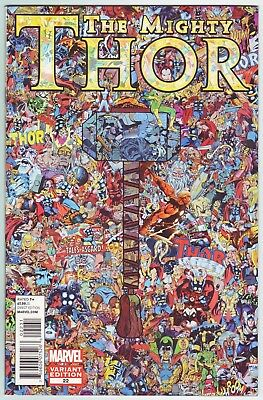 Mighty Thor #22 (2012) Pascal Garcin 1:15 Collage Variant