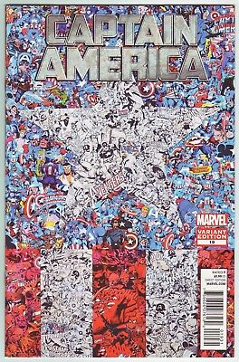 Captain America #19 (2012) Pascal Garcin 1:15 Collage Variant