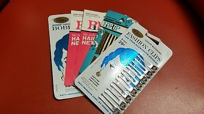 Vintage Hair Accessories BOBBY PINS-PIN UP HAIR NETS- HAIR CLIPS - NEW OLD STOCK