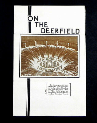 vintage 1937 NEW ENGLAND POWER plant electricity DEERFIELD MA Hydroelectric