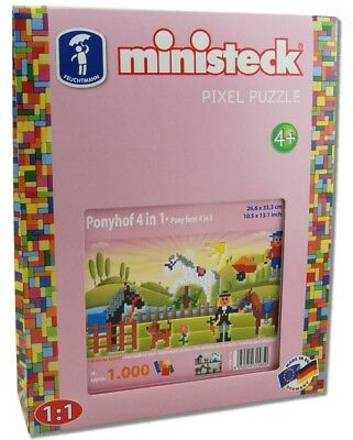 Minist. Ponyhof 4in1 Box 1.000 Teile