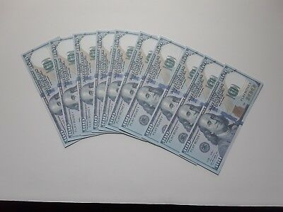 Fake Prop Money!  New 10 X $100 Gag Money Used For Learning And Practical Jokes
