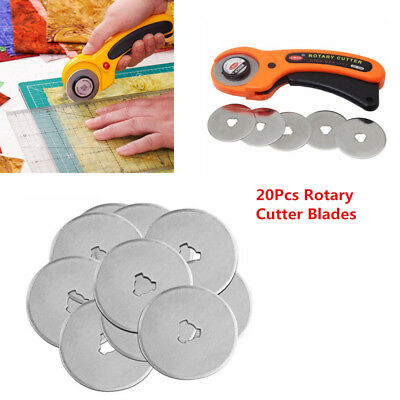 20Pcs 45mm Rotary Cutter Refill Blades Quilters Sewing Fabric Cutting Tools New