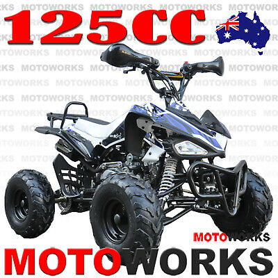 MOTOWORKS SPORTS 125CC ATV QUAD Bike Dirt Gokart 4 Wheeler Buggy blue