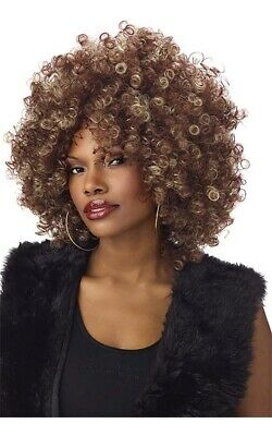 Whitney Houston Fine Foxy 1970S Disco Afro Adult Womens Wig Costume Accessory