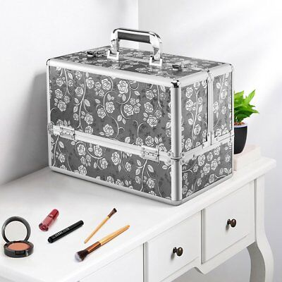 """14"""" Large Portable Beauty Case Cosmetic Makeup Vanity Case Nail Box Carry Bag"""