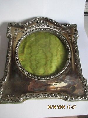 Sterling Silver Photograph Frame - Antique Edwardian - 1906    18.5 CM   REF 517