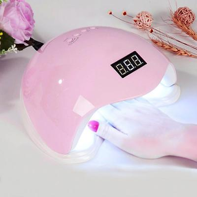 SUN5 48W LED Curing UV Nail Dryer Lamp Light Nail Art Gel Polish Manicure Pink