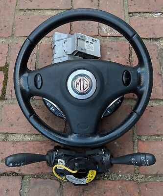 Mg Zt Leather Steering Wheel Cruise Control Package & Control Stalk For Computer