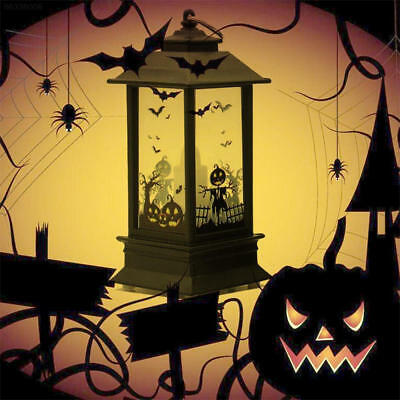 10A3 Pumpkin Lamp Romantic Creative Castle Light Garden Halloween Lantern Witch