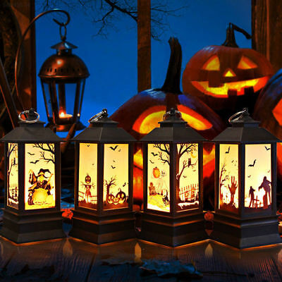01AE Pumpkin Light Creative Romantic Ghost Hand Castle Party Witch Halloween
