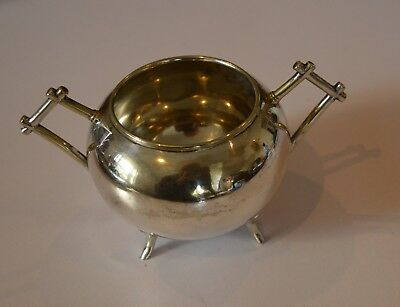 Silver Plate Christopher Dresser Design Sugar bowl Art Deco Style