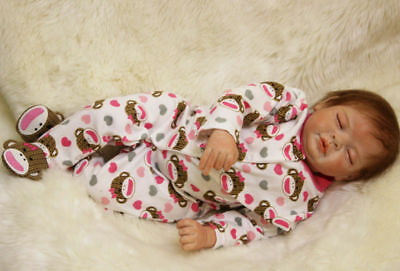 22inch Vinile Lifelike Reborn Baby Doll Kid playmate Vinyl Bambole rinascere TO6