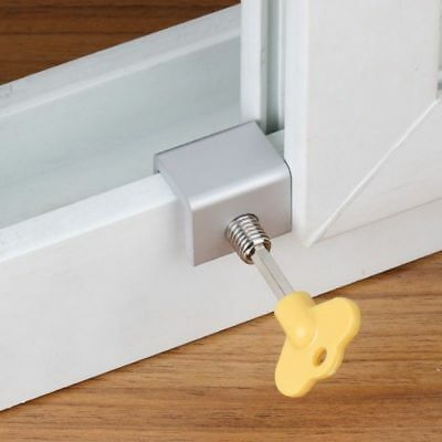 Adjustable Sliding Window Safety Lock Security Slide Stopper Child Proof Safty