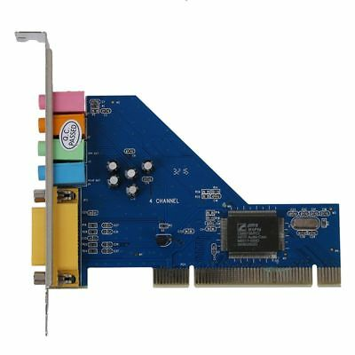 4 Channel C-Media 8738 Chip 3D Audio Stereo Internal PCI Sound Card Win7 64 J5G9