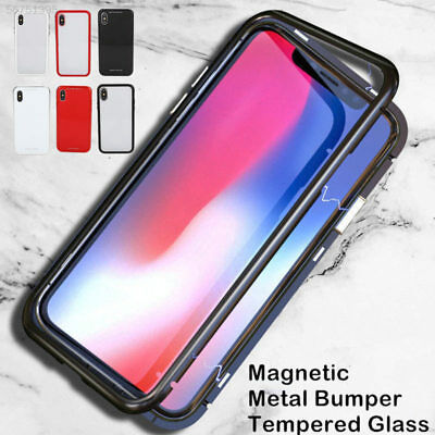 Magnetic Adsorption Hard Frame Clear Cover Full Case Für iPhone XS MAX XR X 8 7