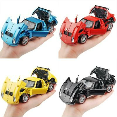 1:32 LAMBORGHINI Miura Puller Alloy Model Sound And Light Pull Back Toy Car Gift