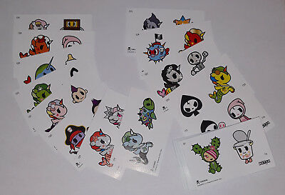 Carte stickers Tokidoki (collection match) 69 / 70 cartes disponibles et livret