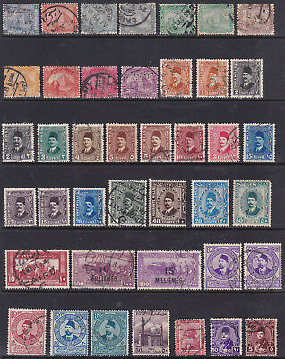 Egypt - Selection Of 41 Stamps - Used - Early Lot