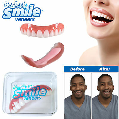 Veneers PERFECT SMILE Instant Cosmetic Teeth Cover Fix Snap On One Size Fits All