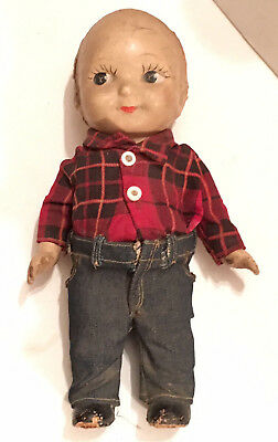 Buddy Lee Composition Doll with Plaid Shirt-LEE Jeans